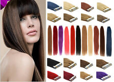 Remy Human Hair Extensions Super Tape-In Skin Weft Seamless Hair 16-26Inch 20Pcs
