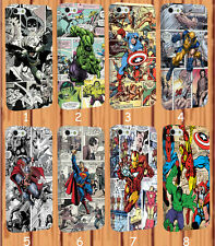 Full Wrap Marvel Superhero Captain America Comics for iPhone And Samsung Case