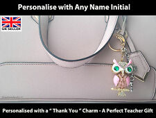 Unique Gift For Teacher - Personalised Keyring End of Term, Leaving Present
