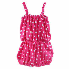 Polka Dot/Leopard Baby Girls Newborn Kids Summer One Piece Bloomers Outfits 0-2Y