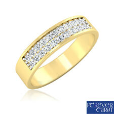 0.28Ct Certified Natural White Diamond Band Ring 14k Hallmarked Gold Jewellery
