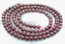 "SALE Small 4-5mm Round high quality Natural garnet gemstone Beads strand 15""-202"