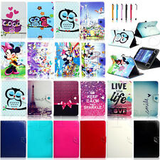 """Various Universal Leather Case Cover For Samsung Galaxy Tab 3 10.1"""" 8.0"""" 7.0"""""""