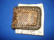 Hand Laced Rattlesnake Skin Covered Money Clip
