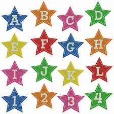 Star Alphabet & Numbers * Machine Embroidery Patterns * 37 designs in 2 sizes