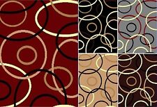 Contemporary Circle Design,  Area Rug 5x8 and 8x11