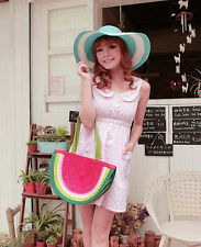 Watermelon Shaped Holiday straw Fruit Feast Tote messenger bag shoulder handbag
