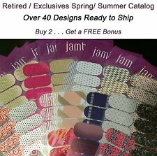 JAMBERRY NAIL WRAPS, HALF SHEET LOT, RETIRED, HTF, EXCLUSIVE, CURRENT FREE bonus