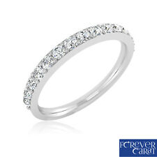 0.45 Ct Certified Natural White Round Cut Diamond Ring Band 925 Sterling Silver