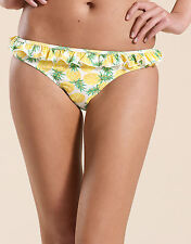 NEW ex- MONSOON PINEAPPLE UNDERWIRED FRILL BIKINI  BOTTOMS SIZE 14, 16 & 18