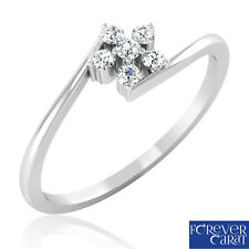 0.11 Ct Certified Natural Diamond Ring in 925 Sterling Silver