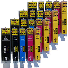 20 compatible non-OEM PGI-525 / CLI-526 ink cartridges for CANON printers.