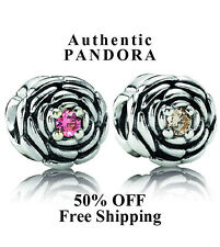 50% OFF Authentic Pandora Charms Blooming Rose, PinkCZ 790575CZS/790575CCZ