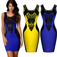 Women Sexy Bandage Evening Party Cocktail Barpque Bodycon Dress Summer Ball Gown