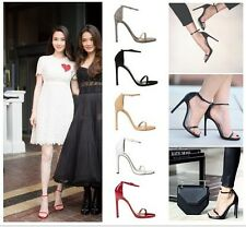 Sexy High Heels Stilettos Pumps Ankle Strap Buckle Court Womens Shoes Sandals