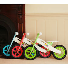 Brand NEW Wood Children Girl's Boy's Toddler's Training Balance Bike Bicycle