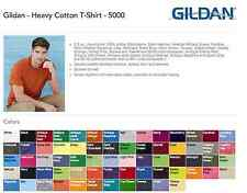 100 Gildan Heavy Cotton T-Shirts Blank Bulk Lot 32 40 75 84 150 200