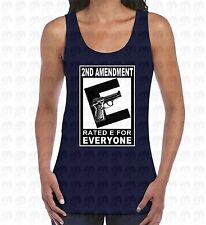 2nd Amendment Womens Mens Tank Top Rated E For Everyone Gun Rights Weaponized