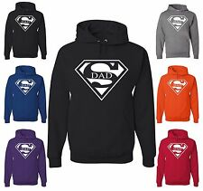 Super Dad Funny Hoodie Father Birthday Gift Dad Husband Super Hero Sweatshirt