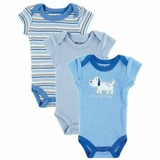 Premature Baby 3 Pack Bodysuit Vests Boys Blue Girls Pink - Luvable Friends