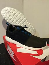 Nike AIR Roshe Run Black blue All White 11.5 9.5 8.5 running yeezy Huarache low
