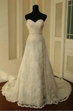 New white/ivory Bridal Dress wedding dress Gown stock size: 6-8-10-12-14-16
