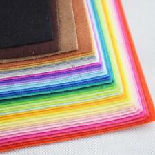 40 Colors Felt Sheets DIY Craft Supplies #O Polyester Wool Blend Fabric 15-30cm