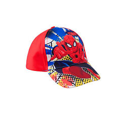 BRAND NEW BOYS KIDS MARVEL SPIDER-MAN THWIP BASEBALL CAP BLUE OR RED  AGE 3-10