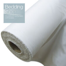 White Poly Cotton Sheeting Fabric Full 5 25 50 75 100 M Metre Rolls - 240cm Wide