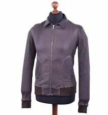 DOLCE & GABBANA Quilted Napa Leather Jacket Brown 03783