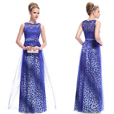 Rhinestones Embroidered Bust Long Party Dress 09978 US Seller