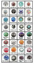 18MM - 3D & ENAMAL & SILVER NOOSA STYLE SNAP ON BUTTONS/CHUNK - TREE OF LIFE