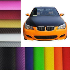 "3D Black Carbon Fiber 12"" 50"" 79""Vinyl Car Wrap Sheet Roll Film Sticker Decals"