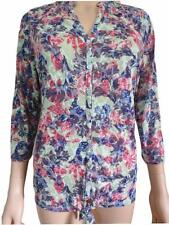 NEW Ex M&S Per Una Green Floral Thin Casual Summer Top Size 12 - 22 3/4 Sleeve