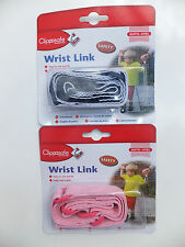 CLIPPASAFE ADJUSTABLE  WRIST LINK - 6MONTHS  TO  4 YEARS- TWO COLOURS