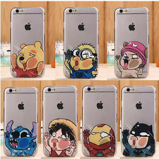 "Charmant Personnage Silicone Transparent Coque pour iPhone 5/5S 6 4,7""/5,5"""