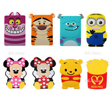 3D Cartoon Minnie Monster Silicone Case Back Cover Skin for iPad Samsung Tablet