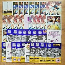 Leeds Rugby League Programmes 1984 - 2004