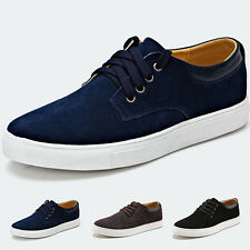 England Style Men Lace up Suede Leather Oxfords Low-top Casual Flats Shoes Man