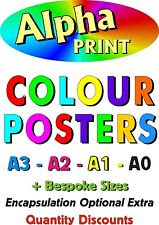 A0  A1 A2 A3 A4 A5 POSTER PRINTING with encapsulation option from your design
