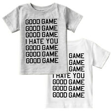 Free Baby Good Game I Hate You Kids Boys T-Shirt Short Sleeve Children Tops 1-6Y