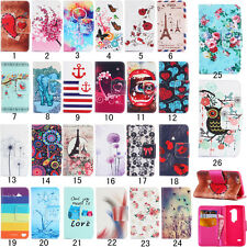 New Magnetic Pattern PU leather wallet flip slots stand case cover For LG
