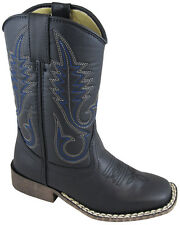 Smoky Mountain Boots Youth Boys Amarillo Black Faux Leather Cowboy