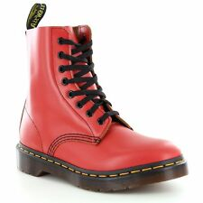 Dr Martens Pascal Unisex Leather 8-Eyelet Ankle Boots  Red