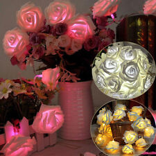 New 20 LED Battery Rose Flower String Light  Wedding Party Christmas Decor