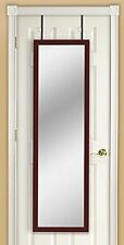 Framed Wall or Full Length Over The Door Mirror, Black, White and Cherry