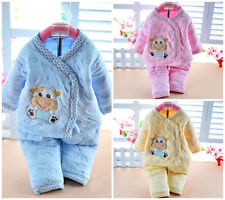 Warm Winter 2Pcs Newborn Toddlers Baby Girls Boys 0-6M Outfits Christmas Clothes