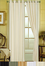 "Elaine Faux Silk Grommeted Window Panel 84"" x 58"" 2 Pack - 5 Colors"