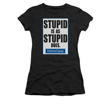 Forrest Gump Stupid Is Officially Licensed Juniors Graphic Tee Shirt Sm-2Xl