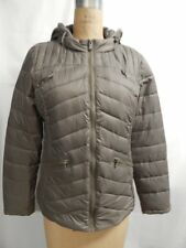 Celebrity Pink Juniors Quilted Hooded Puffer Jacket  L Fossil  NWT